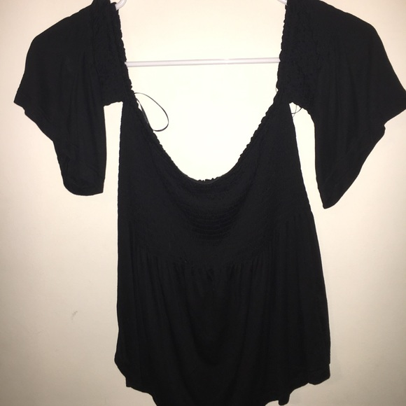 b5776dc4be8e6 Ambiance Tops - Ambiance off the shoulder black top!